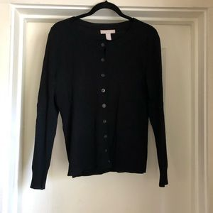 Black Wool Cardigan, Banana Republic